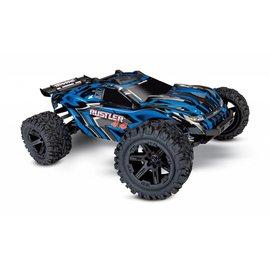 Traxxas TRA67064-4 BLUE Rustler 4X4: 1/10-scale 4WD Stadium Truck