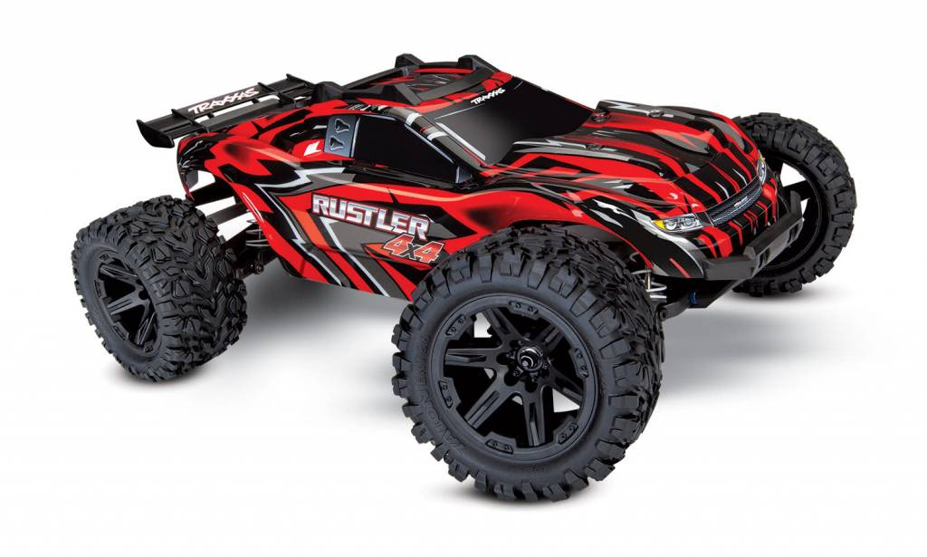 TRA67064-4 Red Rustler 4X4 Stadium Truck RTR without Battery/Charger