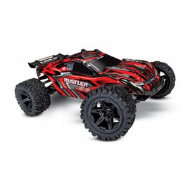 Traxxas TRA67064-1 RED Rustler 4X4: 1/10-scale 4WD Stadium Truck w/ Battery & Charger