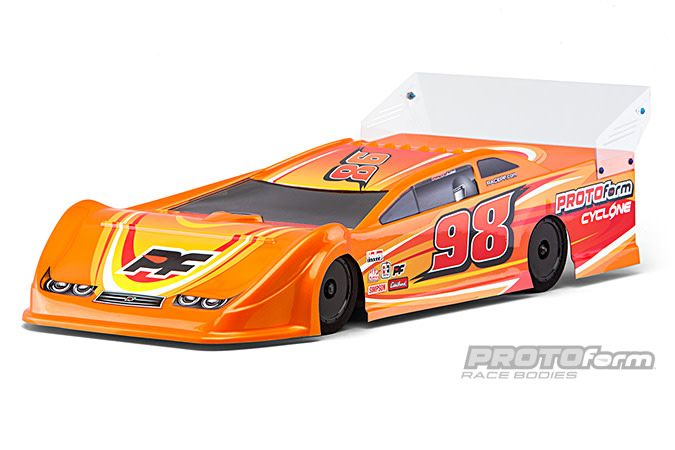 PRO123421 Cyclone 9 5 Clear Body for Dirt Oval Late Model