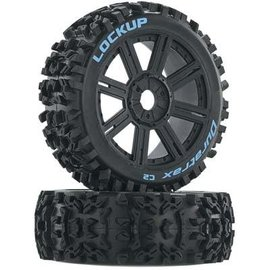 Duratrax DTXC3616 Lockup Buggy Tire C2 Mounted Spoke Black (2)