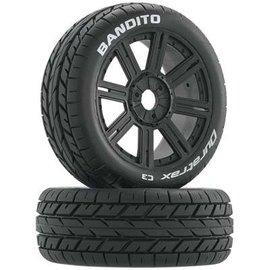 Duratrax DTXC3656 Bandito Buggy Tire C3 Mounted Spoke Black (2)
