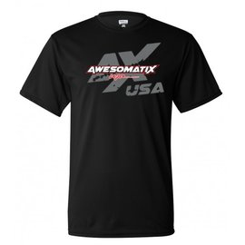 Awesomatix ATS-AMTX-2018-NIP-L Awesomatix USA Breathable Black T-Shirt - Large