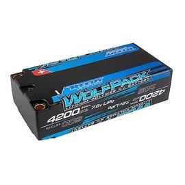 Team Associated ASC27318  Reedy 2S 7.6v 4200mAh 50c HV Wolfpack Shorty LiPo Pack 5mm Bullets