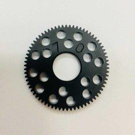 RW RW64D RWPS70  RW Spur Gear 70T 64P Black