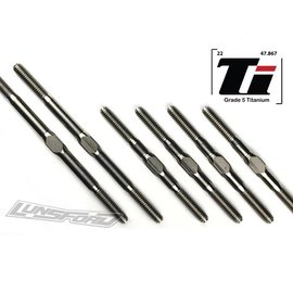 Lunsford LNS2602  3mm PUNISHER Titanium Turnbuckle Kit for Tekno EB410