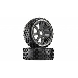 Duratrax DTXC3601  Punch C2 Mounted Buggy Spoke Tires, Black (2) (DTXC3601)