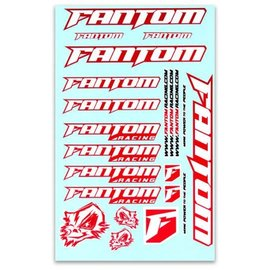 Fantom Racing FAN70193  Vinyl Team Sticker Sheet - Red Chrome
