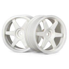 HPI HPI3840  TE37 Wheel, 26mm-3mm Offset, White