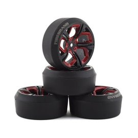 Firebrand RC FBR1WHEHYD503  Firebrand RC Hydra XDR3 5° Pre-Mounted Slick Drift Tires (4) (Red/Black)