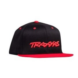 Traxxas TRA1183-BLR Traxxas Snap Hat Flat Bill Black/Red