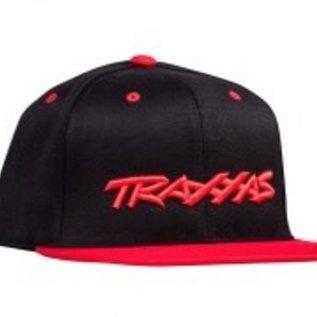 Traxxas TRA1183-BLR Traxxas Snap Hat Flat Bill Black/Red