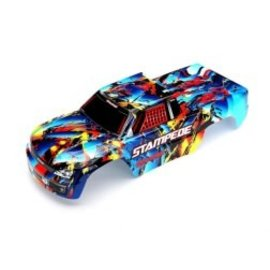 Traxxas TRA3648  Body, Stampede, Rock n' Roll (painted, decals applied)