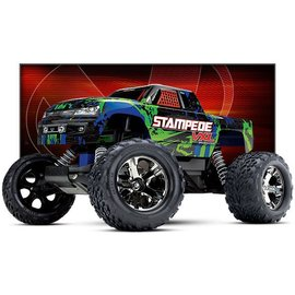 Traxxas TRA36076-4  Green Stampede VXL 2WD Monster Truck RTR Without Battery & Charger