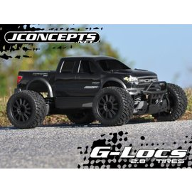 "J Concepts JCO30563040  2.8"" G-Locs Tires, Yellow Premount on Black Wheels for E-Stampede E-Rustler"