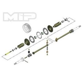 MIP MIP17140 Pucks,17.5 Drive System All TLR 22 4.0