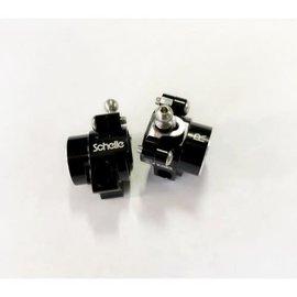 Schelle Racing SCH1403  B6.1 Rear Hub Set with Carpet -2mm Cap, Black