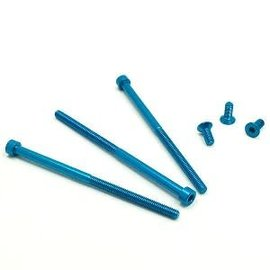 Trinity TEP1513B  Monster Motor Aluminum Screw Set (6) (Blue)