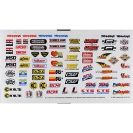 Traxxas TRA2514  Racing Sponsor Decal Sheet