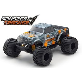 Kyosho KYO34403T2B  Monster Tracker EP 2WD Monster Truck-Orange, Ready To Run