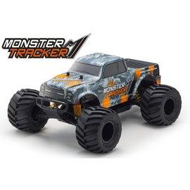 Kyosho KYO34403T2B  Monster Tracker EP 2WD Monster Truck-Orange, Ready To Run