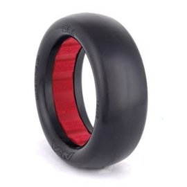 AKA Racing AKA13225WR  1:10 Buggy Evo Slicks 2wd Front (Ultra Soft) w/ Red Inserts (2)
