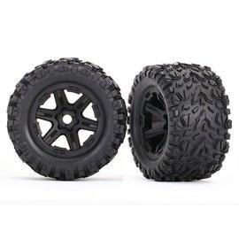 Traxxas TRA8672 Tires & wheels, assembled, glued (black wheels, Talon EXT tires, foam inserts) (2) (17mm splined) (TSM rated)