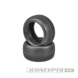 J Concepts JCO3190-010  Twin Pins 1/10 Buggy Rear Tires, Pink Compound