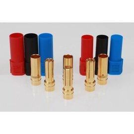 Michaels RC Hobbies Products EPB-9110 XT150 Connectors (3 pr) Black, Blue, Red
