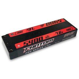 Fantom Racing FAN25177  Fantom 2S 7.6v 5400mAh 160C LP HV LiPo w/ 5mm Bullets
