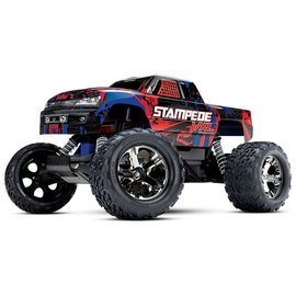 Traxxas TRA36076-4  Red Stampede VXL 2WD Monster Truck RTR Without Battery & Charger