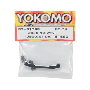 Yokomo YOKB7-3179B  47.9mm Aluminum Rear-Rear Suspension Mount (Black) (Short)