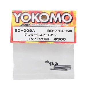 Yokomo YOKBD-009A 2x23mm Outer Suspension Arm Pin Set (4)