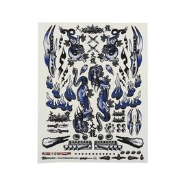 "Firebrand RC FBR1DECDBL191  Firebrand RC Concept Dragon Decal (Blue) (8.5x11"")"