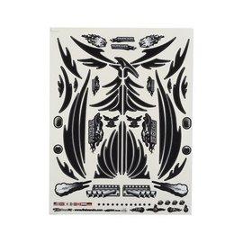 "Firebrand RC FBR1DECPBK122  FBR69212  Firebrand RC Concept Phoenix Decal (Black) (8.5x11"")"