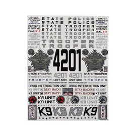 "Firebrand RC FBR1DECSTA066  Firebrand RC State Trooper Decal Sheet (8.5x11"")"