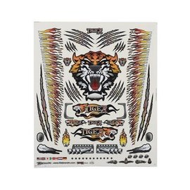 "Firebrand RC FBR1DECTOR146  Firebrand RC Concept Tiger Decal (Orange) (8.5x11"")"