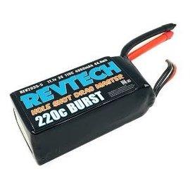 Trinity REV2035-5  RevTech 3S 11.1v 4000mAh 110C 220C Burst LiPo Drag Racing Pack (No Plug)