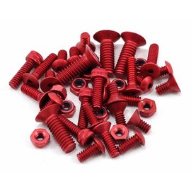 CRC CLN1410  Red Anodized Aluminum Screw Set