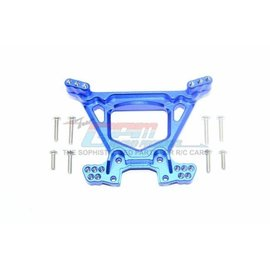 GPM Racing Products RUS4030-B  Rustler 4X4 Blue Aluminum Rear Shock Tower