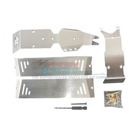 GPM Racing Products ERZSP1 E-Revo 2.0 VXL Steel Skid Plates For Front, Center, Rear Chassis
