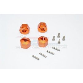 GPM Racing Products GT010/12x9mm-O  Orange Aluminum Hex Adapters 9mm Thick