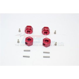 GPM Racing Products GT010/12x9mm-R  Red Aluminum Hex Adapters 9mm Thick