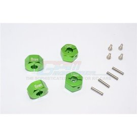 GPM Racing Products GT010/12x8mm-G  Green Aluminum Hex Adapters 8mm Thick