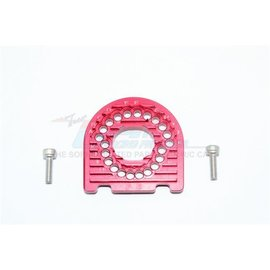 GPM Racing Products GT018-R  Traxxas 4-Tec 2.0 Red Aluminum Motor Mount Plate With Heat Sink Fins