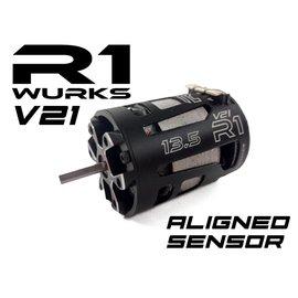 R1wurks R1-20009SB  R1 Wurks 13.5T Brushless Motor V21 aligned sensor boards