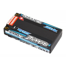 Team Associated ASC27338  Reedy Zappers SG2 4100mAh 80C 7.6V Lipo Battery, Low profile Shorty