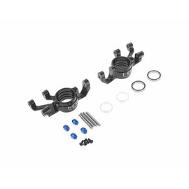 HOT RACING HRAXMX2101  Hot Racing Traxxas X-Maxx Aluminum Steering Blocks (Black)