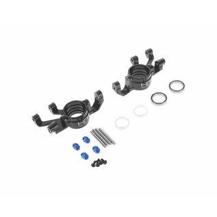 HOT RACING HRAXMX2101  Hot Racing Traxxas X-Maxx Aluminum Steering Blocks (Black)