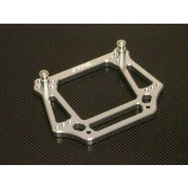 STRC SPTST3639S Aluminum 6mm Heavy Duty Front Shock Tower, Silver, for Traxxas Stampede/Rustler